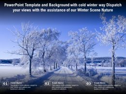 Template With Cold Winter Way Dispatch Your Views With Assistance Of Our Winter Scene Nature