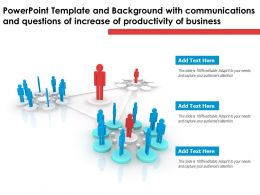 Template With Communications And Questions Of Increase Of Productivity Of Business