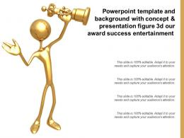 Template With Concept And Presentation Figure 3d Our Award Success Entertainment