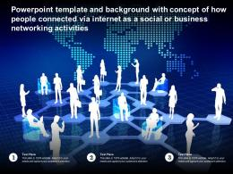 Template With Concept Of How People Connected Via Internet As A Social Or Business Networking Activities