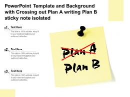 Template With Crossing Out Plan A Writing Plan B Sticky Note Isolated Ppt Powerpoint