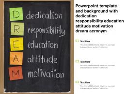 Template With Dedication Responsibility Education Attitude Motivation Dream Acronym