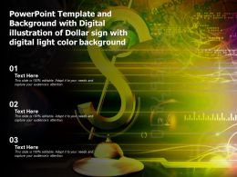 Template With Digital Illustration Of Dollar Sign With Digital Light Color Background