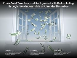 Template With Dollars Falling Through The Window This Is A 3d Render Illustration