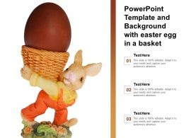 Template With Easter Egg In A Basket Put Your Attributes On Display With Our Easter Egg