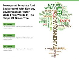 Template With Ecology Environmental Poster Made From Words In Shape Of Green Tree