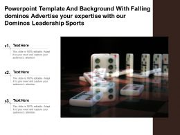 Template With Falling Dominos Advertise Your Expertise With Our Dominos Leadership Sports
