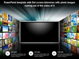 Template With Flat Screen Television With Photo Images Coming Out Of The Sides Of It