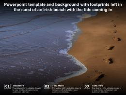 Template With Footprints Left In The Sand Of An Irish Beach With The Tide Coming In