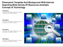 Template With Internet Depicting Wide Variety Of Resources Available Concept Of Technology