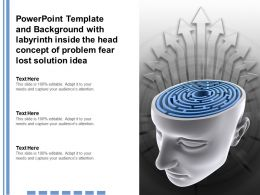 Template With Labyrinth Inside The Head Concept Of Problem Fear Lost Solution Idea
