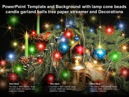 Template With Lamp Cone Beads Candle Garland Balls Tree Paper Streamer Decorations