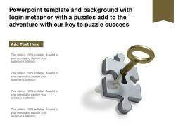 Template With Login Metaphor With A Puzzles Add To The Adventure With Our Key To Puzzle Success