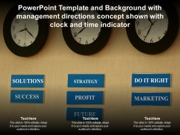 Template With Management Directions Concept Shown With Clock And Time Indicator