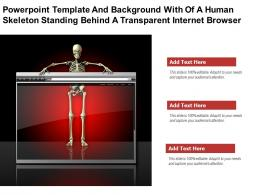 Template With Of A Human Skeleton Standing Behind A Transparent Internet Browser