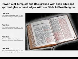 Template With Open Bible Spiritual Glow Around Edges With Our Bible A Glow Religion