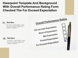 Template With Overall Performance Rating Form Checked The Far Exceed Expectation