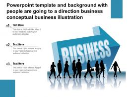 Template With People Are Going To A Direction Business Conceptual Business Illustration