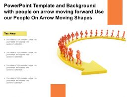 Template With People On Arrow Moving Forward Use Our People On Arrow Moving Shapes