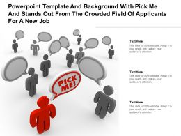 Template With Pick Me And Stands Out From The Crowded Field Of Applicants For A New Job