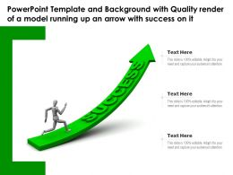 Template With Quality Render Of A Model Running Up An Arrow With Success On It
