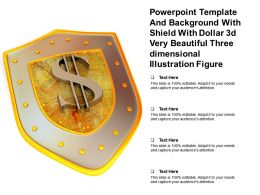 Template With Shield With Dollar 3d Very Beautiful Three Dimensional Illustration Figure