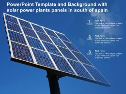 Template With Solar Power Plants Panels In South Of Spain Ppt Powerpoint