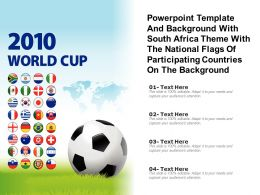 Template With South Africa Theme With National Flags Of Participating Countries On Background