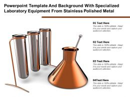 Template With Specialized Laboratory Equipment From Stainless Polished Metal