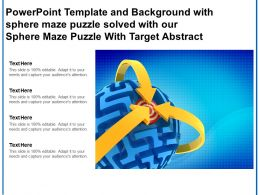 Template With Sphere Maze Puzzle Solved With Our Sphere Maze Puzzle With Target Abstract