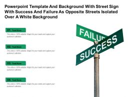 Template With Street Sign With Success And Failure As Opposite Streets Isolated Over A White