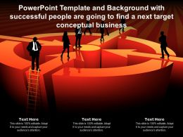 Template With Successful People Are Going To Find A Next Target Conceptual Business