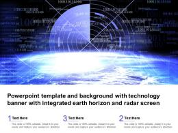Template With Technology Banner With Integrated Earth Horizon And Radar Screen