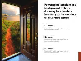 Template With The Doorway To Adventure Has Many Paths Our Door To Adventure Nature