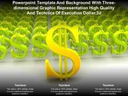 Template With Three Dimensional Graphic Representation High Quality Technics Of Execution Dollar 3d