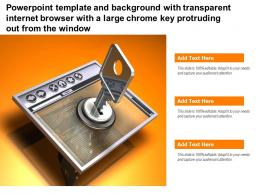 Template With Transparent Internet Browser With A Large Chrome Key Protruding Out From Window