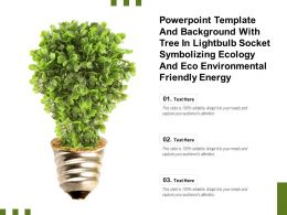 Template With Tree In Lightbulb Socket Symbolizing Ecology And Eco Environmental Friendly Energy