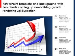 Template With Two Charts Coming Up Symbolising Growth Rendering 3d Illustration