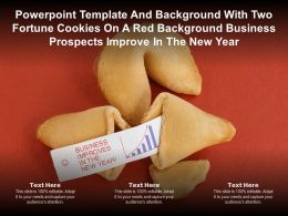 Template With Two Fortune Cookies On A Red Business Prospects Improve In The New Year