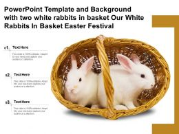 Template With Two White Rabbits In Basket Our White Rabbits In Basket Easter Festival