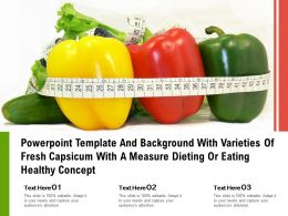 Template With Varieties Of Fresh Capsicum With A Measure Dieting Or Eating Healthy Concept