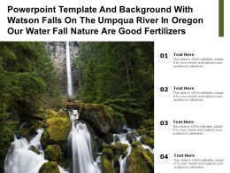 Template With Watson Falls On Umpqua River In Oregon Our Water Fall Nature Are Good Fertilizers
