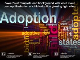 Template With Word Cloud Concept Illustration Of Child Adoption Glowing Light Effect