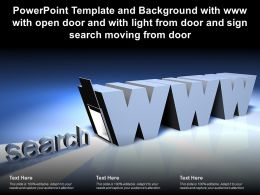 Template With Www With Open Door With Light From Door And Sign Search Moving From Door