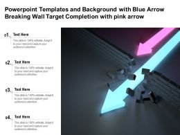 Templates And Background With Blue Arrow Breaking Wall Target Completion With Pink Arrow