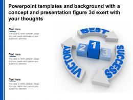 Templates With A Concept And Presentation Figure 3d Exert With Your Thoughts