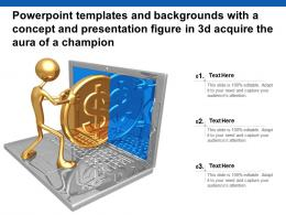 Templates With A Concept And Presentation Figure In 3d Acquire The Aura Of A Champion