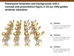 Templates With A Concept And Presentation Figure In 3d Our Little Golden Students Education