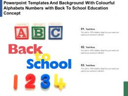 Templates With Colourful Alphabets Numbers With Back To School Education Concept