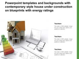 Templates With Contemporary Style House Under Construction On Blueprints With Energy Ratings